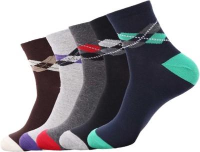 Avm Hollywood Men's Self Design Ankle Length Socks