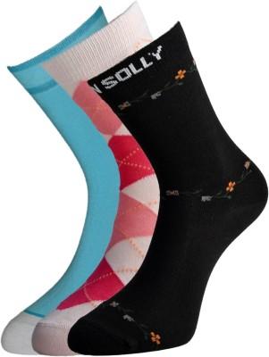 Allen Solly Women's Solid Mid-calf Length Socks