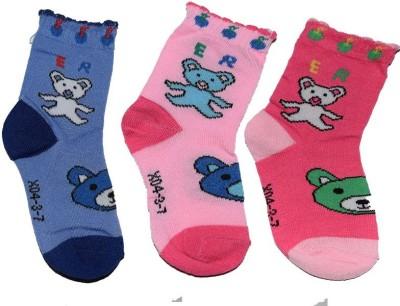 Ishaya Stores Baby Boy's Floral Print Quarter Length Socks