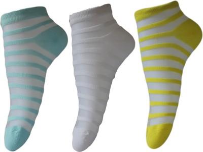 Narang Sons Women,s Striped Quarter Length Socks