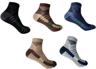 Roselon Men's Self Design Crew Length Socks