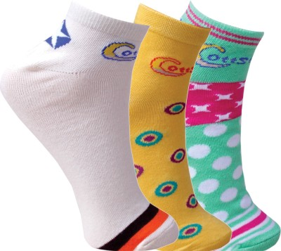 Cottstrings Women's Self Design Ankle Length Socks