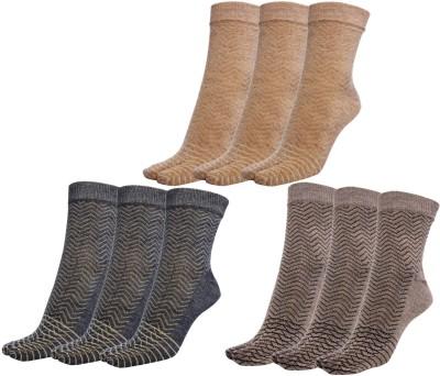 Simon Women's Self Design Crew Length Socks