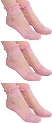 Brandstand Women's Self Design Ankle Length Socks