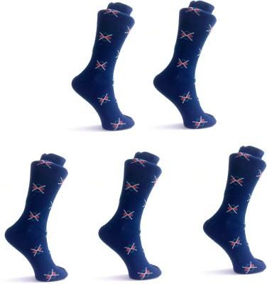 OshopTrades Men's Checkered Mid-calf Length Socks