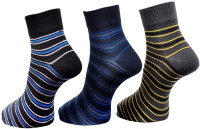 A&G Men's Striped Ankle Length Socks