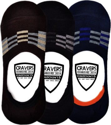 Cravers Men's Striped No Show Socks
