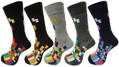 Snowbird Men's Self Design Crew Length Socks