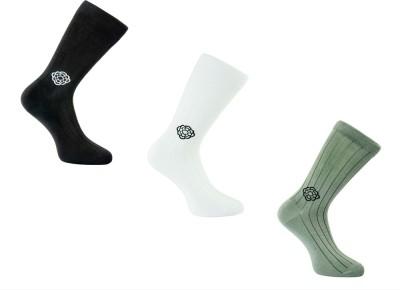 Cottoniche Men's Solid Mid-calf Length Socks