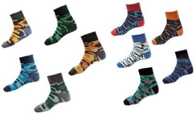 Avm Hw Velvet Men's Graphic Print, Printed, Checkered Ankle Length Socks