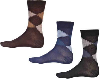 Ezzi Feet Men's Checkered Crew Length Socks