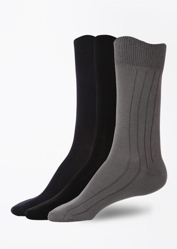 Peter England Men's Striped Mid-calf Length Socks