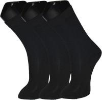Welwear Mens Solid Crew Length Socks(Pack of 3)