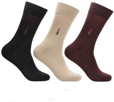 Onlineshoppee Premium Men's Self Design Crew Length Socks