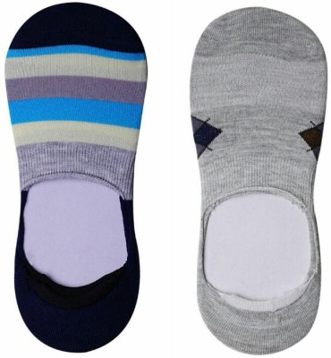 JamsSocks Men's Geometric Print No Show Socks