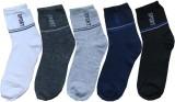 Spotboy Men's Solid Ankle Length Socks