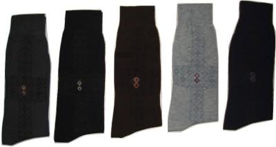 Well Wear Men,s Woven Crew Length Socks