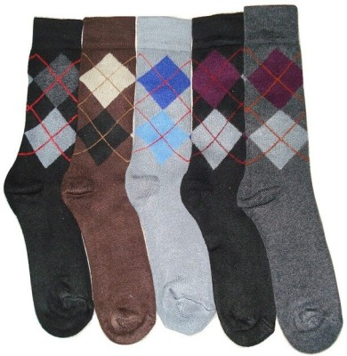 Well Wear Men,s Checkered Crew Length Socks