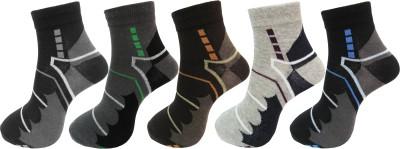 Royal Class Men's Self Design Ankle Length Socks