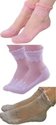 Icable Women's Applique Quarter Length Socks