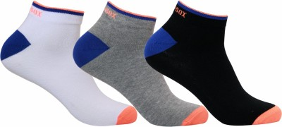 Supersox Mens Self Design Ankle Length Socks(Pack of 3)
