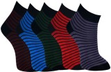 Marc Men's Striped Ankle Length Socks (P...