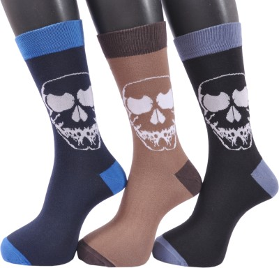 A&G Men's Applique Crew Length Socks