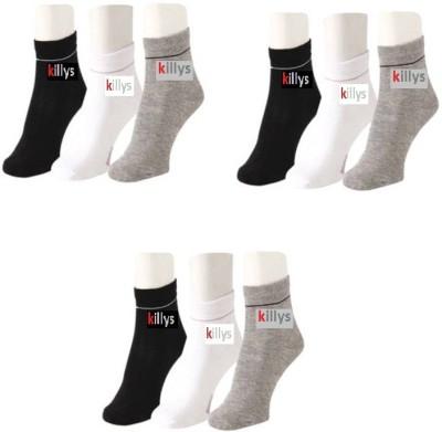 Killys Men,s Solid Ankle Length Socks
