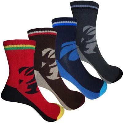 AOV Men's Striped Ankle Length Socks