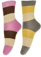 Nxt 2 Skn Womens Striped Ankle Length Socks(Pack of 2)