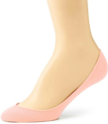 Pink Flamingo Cotton Shoe Liners Women's Solid No Show Socks