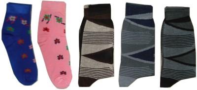 Well Wear Women,s Printed Ankle Length Socks, Crew Length Socks