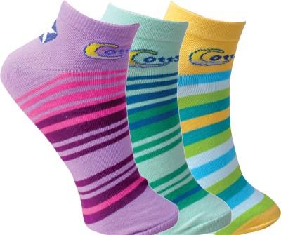 Cottstrings Women's Striped Ankle Length Socks