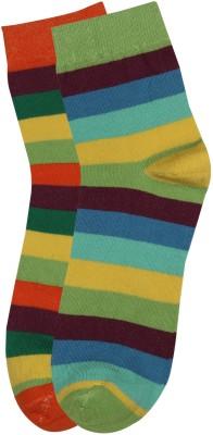 Renzer Men's Striped Crew Length Socks