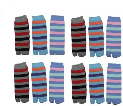 Killys Men,s Striped Ankle Length Socks