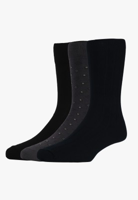 Van Heusen Men's Self Design Mid-calf Length Socks