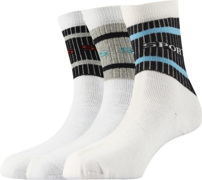 Arrow Mens Solid Crew Length Socks