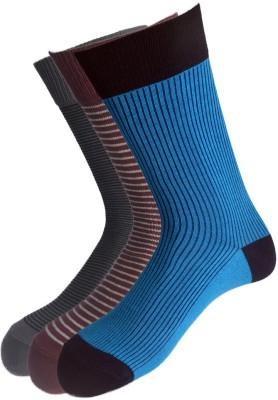 Van Heusen Men's Striped Mid-calf Length Socks