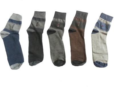 Lotus Leaf Men's Printed Ankle Length Socks