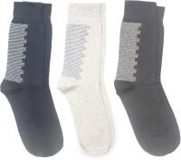 Yellow Mellow Mens Graphic Print Mid-calf Length Socks(Pack of 3)