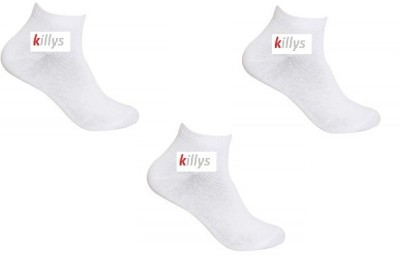 Killys Men's Solid Ankle Length Socks