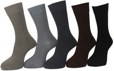 Avm Hollywood Men's Solid Knee Length Socks
