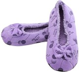Feather Leather Women's Printed Footie S...