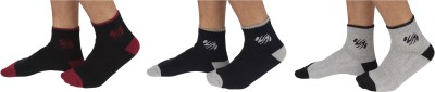 SportSoul Men's Self Design Ankle Length Socks
