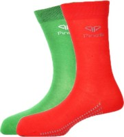Pinellii Italian Colloratto-1 Mens Solid Mid-calf Length Socks(Pack of 2)