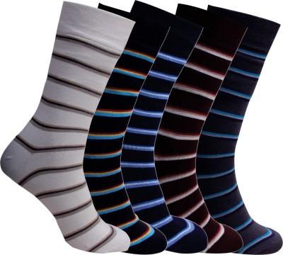 Cottstrings Men's Striped Mid-calf Length Socks