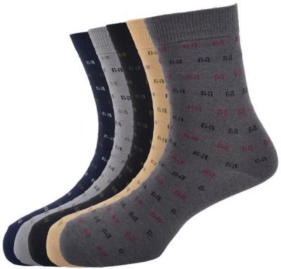 Calzini Men's Printed Glean Length Socks