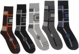 Well Wear Men's Printed Crew Length Sock...