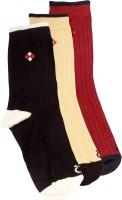 Lefjord Mens Printed Crew Length Socks(Pack of 3)