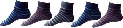 Garg Sport Men,s Striped Ankle Length Socks